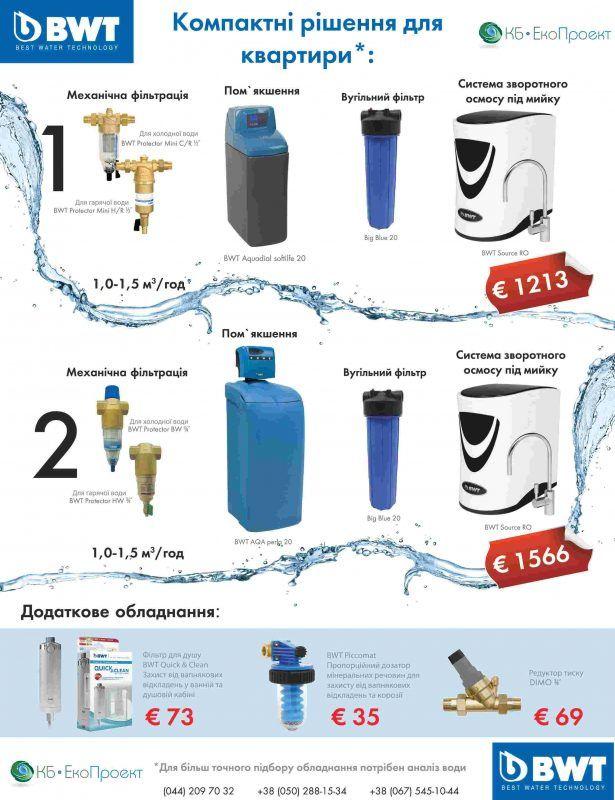 фильтры для воды bwt буклет